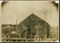 Sardine cannery and workers, Swan's Island, ca. 1900
