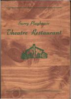 Playhouse Theatre Restaurant Menu cover, Surry, ca. 1940