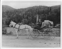 Shaker Elder Henry Green on sales trip, ca. 1896