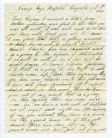 William Haley Letter to his Daughter Elzira, 1864