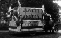 Jewett Cannery float, Norridgewock, ca. 1920