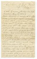 William Haley, Jr. letter to his wife, Miriam, near Washington, D.C., 1865