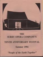 Opera Company's Tenth Anniversary festival schedule, Surry, 1994