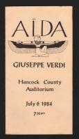 Surry Opera Company Aida program cover, Ellsworth, 1984