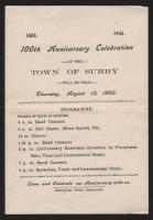 100th Anniversary Celebration Programme, Surry, 1903