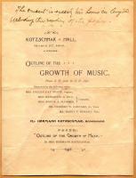 Kotzschmar Hall program, Portland, 1896
