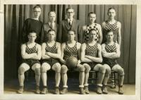 Boys' Basketball Team, Farmington State Normal School, 1928