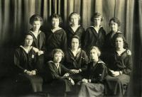 Christian Youth Association senior cabinet, Farmington State Normal School, 1921