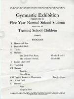 Gymnastics Program, Farmington State Normal School, 1927