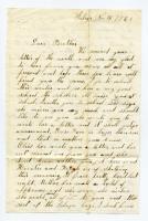 Ella Cole to brother Charles, Sebago, 1862