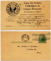 Ligue des Societes Catholiques de Langue Francais invitation, 1936