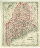 Colton map of Maine, 1872