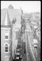 Trolley cars, Lisbon Street, Lewiston