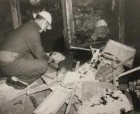 Maine Civil Defense rescue demonstration, Hallowell, 1955