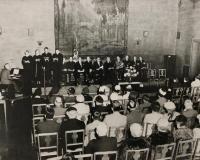 Choir, interdenominational church service, Portland, ca. 1954