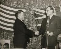 New Brunswick offical, Maine Civil Defense director, 1955