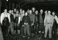 Starbird Lumber Co. mill crew, Strong, ca. 1957