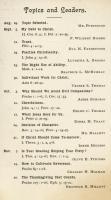 Christian Association Schedule, Farmington State Normal School, 1901