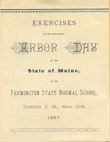 Arbor Day Program, Farmington State Normal School, 1887