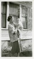 Miss Benjamin and Cottage Baby Linda, Farmington State Teachers College, ca. 1952