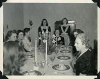 Home Ec Formal Dinner, Farmington State Normal School, ca. 1942