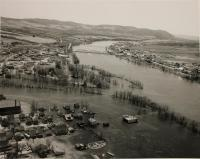 Saint John and Fish rivers flooding, Fort Kent, 1961