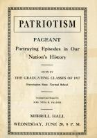 Patriotism Pageant program, Farmington State Normal School, June 20, 1917