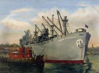 Painting of the Edward H. Crockett, 1944