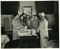 Home Economics class with nurse, Farmington State Normal School, ca. 1930