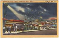 Amusement Center at night, Old Orchard Beach, ca. 1938