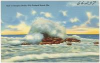 Surf at Googins Rocks, Old Orchard Beach, ca. 1938