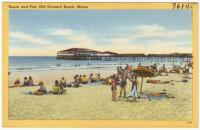 Beach and pier, Old Orchard Beach, ca. 1938