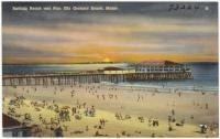 Bathing beach and pier, Old Orchard Beach, ca. 1938