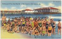 Tourist postcard from Old Orchard Beach, ca. 1938