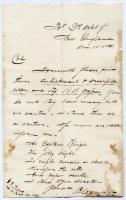 Letter on regimental forms, 1861