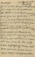 Letter from F. Hubbard to Elizabeth Bascome Jewett