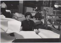 Women sorters at Eastern Fine Paper, Brewer, ca. 1960