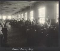 Women sorting rags, Brewer, ca. 1920