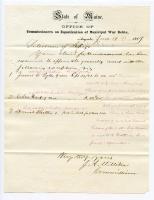 Sebago Bounty Reimbursement Claim Questions, 1869