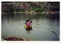 Draining Baird's Quarry, Swan's Island, 2003