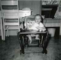 Cottage baby John, Farmington State Teachers College, 1951