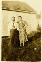 Clevie and Mary Trask, Swan's Island, ca. 1940