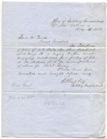 Order for arrest of Rebel shoemaker, New Orleans, 1862