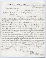 Letter on seized flags, ship, New Orleans, 1862