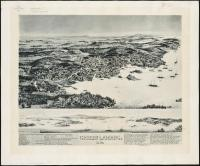 Birds-eye view of Stonington, 1893