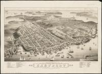 Bird's-eye view of Eastport, 1879