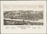 Livermore Falls bird's-eye view, 1889