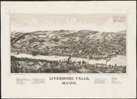 Livermore Falls bird's-eye view, 1889