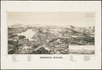 Monson bird's-eye view, 1889