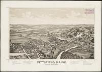 Bird's-eye view of Pittsfield, looking northwest, 1889